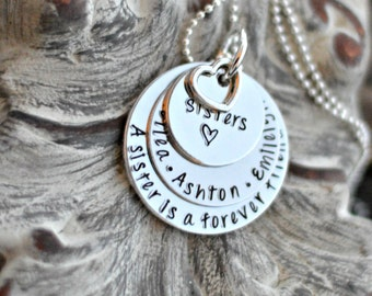 unique sisters gift - sister necklace - a sister forever friend -sister birthday gift - unique gifts for sisters - sister - sister matching