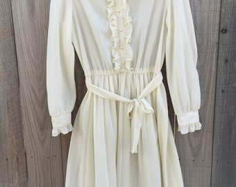 Montgomery Ward Ivory Vintage Dress
