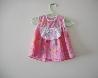 123 Super cute 90s Pinafore - 3 months size