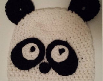 Panda hat and matching diaper cover