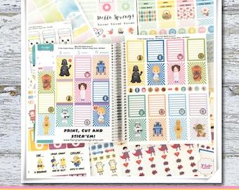 MINI STAR WARS Planner Sticker Series 1 , Star Wars Inspired Kit, Planner Stickers, Stickers for Erin Condren Planners
