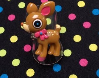 Brown Deer Fawn Adjustable Ring