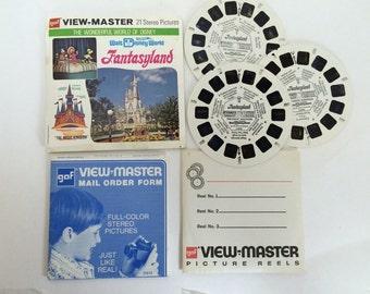 Walt Disney World Fantasyland Viewmaster 3 Reel Pack - View-Master A 948 G3 G4 G5