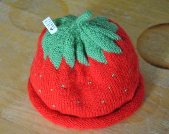 Strawberry Hat /Birthgift !