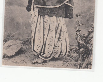 Shkodres Albania Musumane Muslime Lady Antiqque Postcard C1915 Collotype,Unused