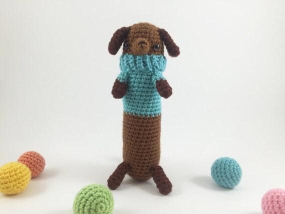 Crocheted Dachshund Crochet Dog Amigurumi Dog Crochet