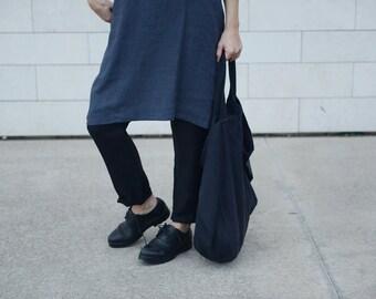 Oversized Japanese Style Linen Tot Bag