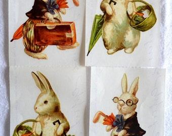 Vintage Easter Stickers - Peter Rabbits - 4 Grossman