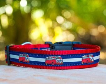 Campervan Dog Collar / XS-XL / Dog Collars Australia / Retro Dog Collar