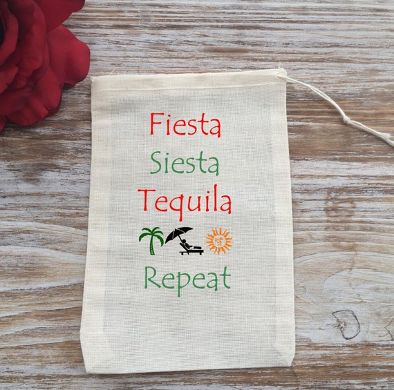 Wedding Gift Bag Ideas Mexico : 10 Mexico themed favor bags, destination wedding favor bags ...