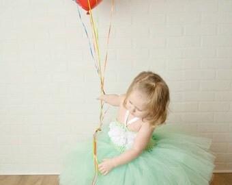 Flower Girl Dress, Mint Flower Girl Dress, Christening Dress, Christening Gown, Flower Girl Tutu, Flower Girl Dress tulle, First Birthday