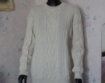 PULL HAND KNITTED - Man or woman - size 44/46