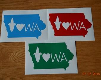 State of Iowa Iowa Decal
