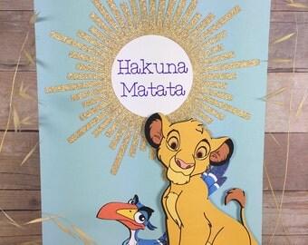 Simba and Zazu Lion King Card