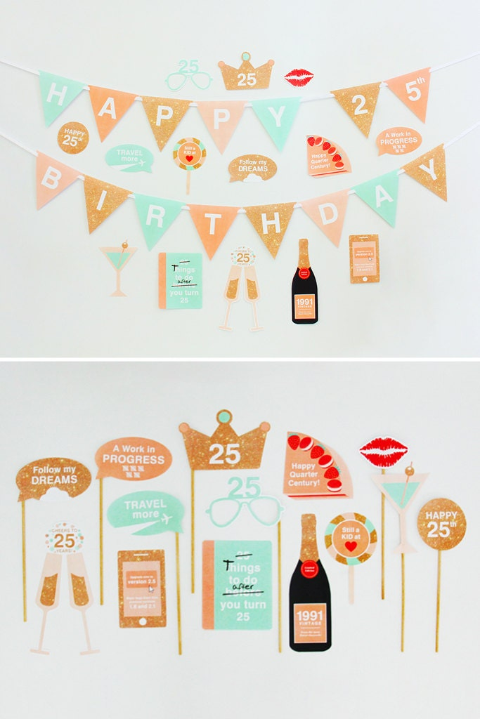 25th birthday party decorations 25th photo by creativesenseco for 25th birthday decoration