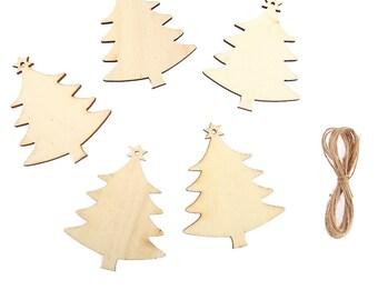 10 x Wooden Christmas TREES, Wedding Decoration Embellishment