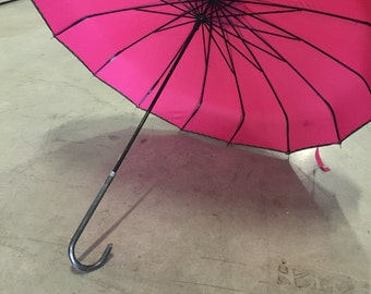 Vintage pink parasol umbrella valentines day gift