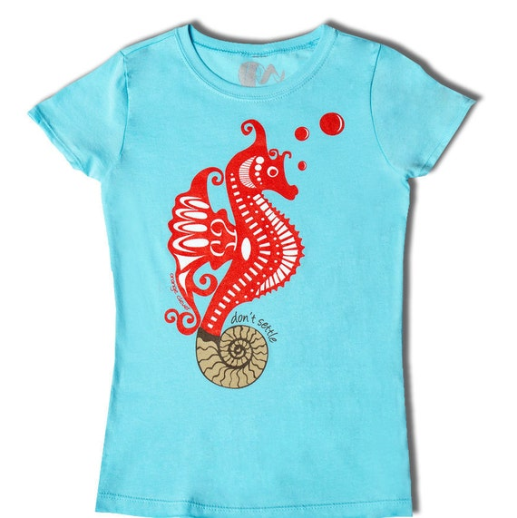 Clothes for girls, tshirt, fun and educational girls shirt, science shirt for girls, FOSSIL HOME, Ammonite
