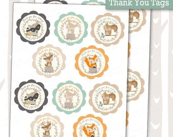 sweet woodland baby shower thank you tags decorative woodland animals tags forest friends gift