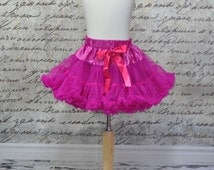 Baby Girls Pettiskirt Tutu in Hot Pink. Fuchsia Pettiskirt . Ready to Ship.