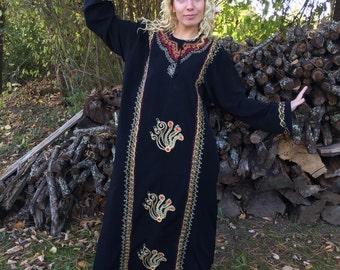 Egyptian Dress, Egyptian Dresses, Festival Dress, Black Caftan, long dress, Kaftan Dress, egypt dress, ethnic dress, Egyptian Goddess dress