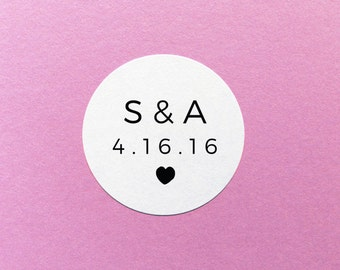 Save The Date Label, Initial Wedding Sticker, Personalised Wedding Sticker, Envelope Seals, Wedding Invite Labels, Save The Date Stickers