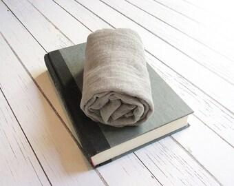 Newborn Cheesecloth Wrap, Dark Grey Baby Wrap, Maternity Cheesecloth Wrap