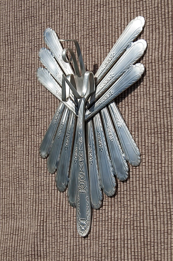 Silver Plated Silverware Angel Wall Hanging Awh007