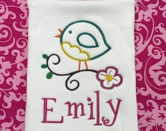 Monogram Burp Cloth/ Personalized Baby Burp Cloth/ Customized Burp Cloth