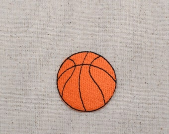 "Basketball - Medium - 1.5"" - Embroidered Patch - Iron on Applique - WA141"