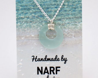Seafoam Recycled Glass Necklace