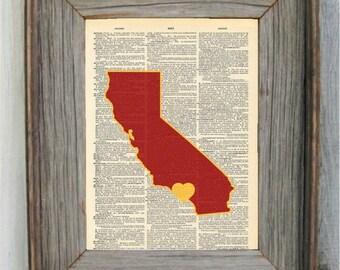 USC Print. Dictionary Art Print. USC Trojans.