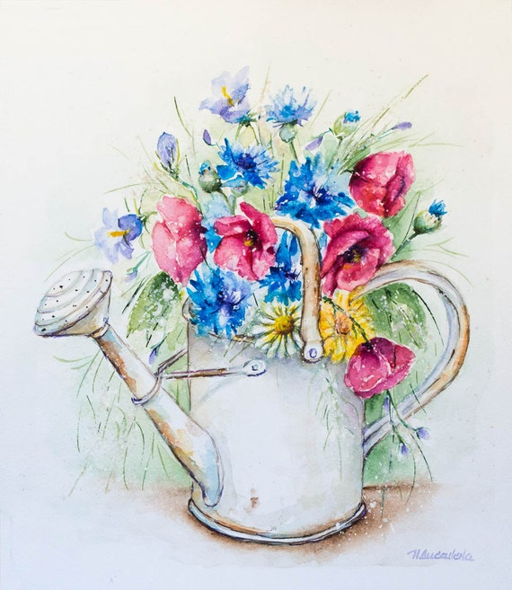 Watering can flowers images galleries for Can you dye roses