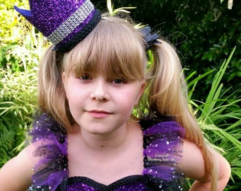 Large Purple Sparkly Glitter Crown -Maleficent Inspired - Pageant, Fancy Dress, Cake Smash, Photoshoot, Sleeping Beauty