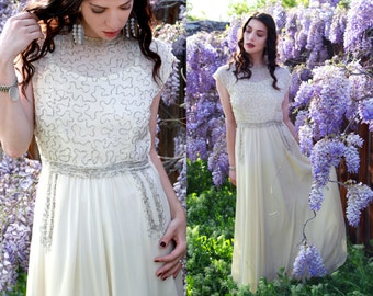 1940s Gown / 40s Wedding Dress / Vintage Wedding Dress
