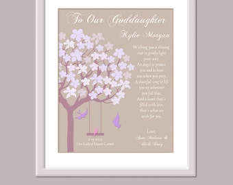 Godchild gifts etsy goddaughter gift gift for godchild godchild gift godchild print custom goddaughter gift negle Image collections