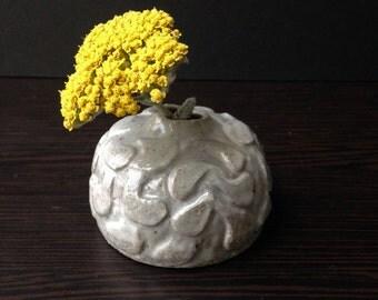 """Light Gray """"Drops"""" Flower Bud Vase"""