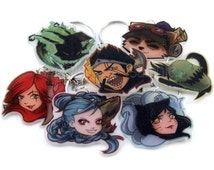 LOL League Of Legends KEYCHAINS