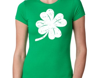 Shamrock Clover St. Patrick's Day Ladies Fit Saint Patrick's Lucky T-shirt