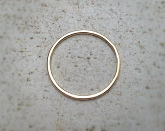 14k Gold Skinny Ring - Simple and Perfect