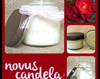Mason Jar Candle - Soy Candle - Soy Scented Candle - Dragons Blood Candle -Halloween Candle - Handmade Candle - Housewarming Gift - 4 & 8 oz