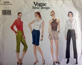 Vogue 1948 - Shorts, Capris and Pants Collection - Size 12 14 16