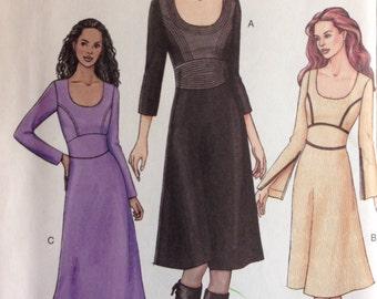 Vogue 7647 - Dress with Shaped Midriff and Princess Seams - Size 8 10 12