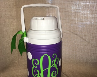 Personalized Preppy Monogram Water Jug Cooler- 1.3 Quart