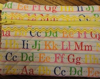 Cosmetic Bag Alphabet fabric