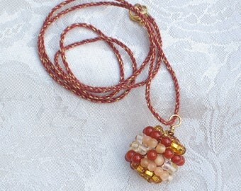 Emotional Healing Talisman, Peach Moonstone, Carnelian, Citrine, Necklace
