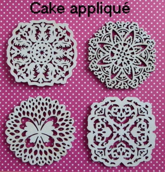 Lace Applique Cake Molds