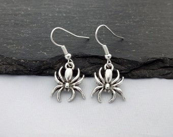Spider Earrings, Halloween Earrings, Charm Earrings, Spider Jewellery, Halloween Jewellery, Halloween Jewelry, Spider Jewelry