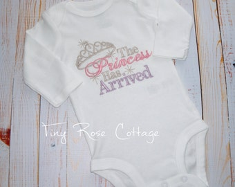 The Princess has arrived - Embroidered Shirt/Body Suits