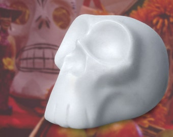 DIY Day of the Dead Sugar Skull. Dia de los Muertos Paint your own.